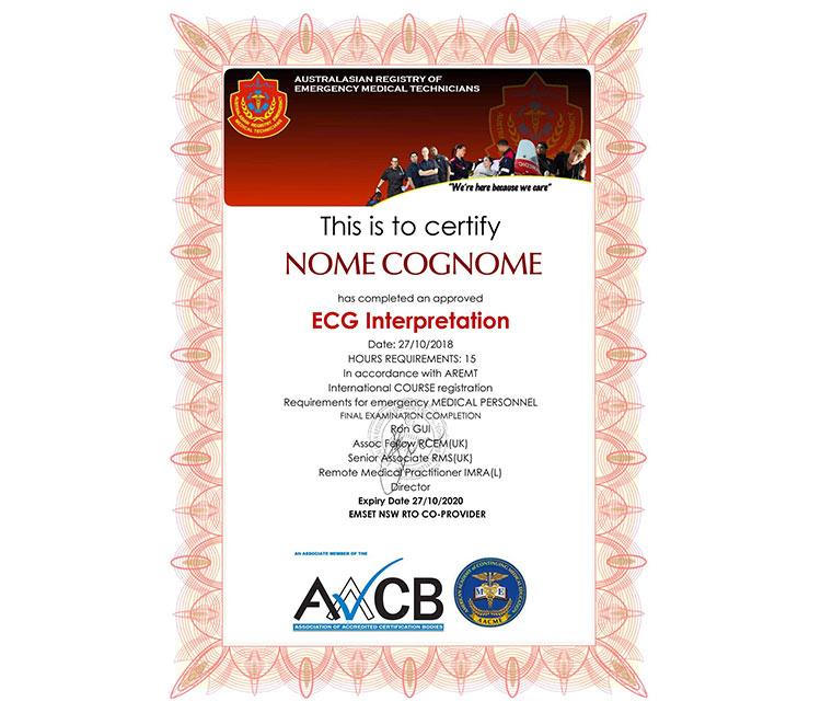 certificato ecg