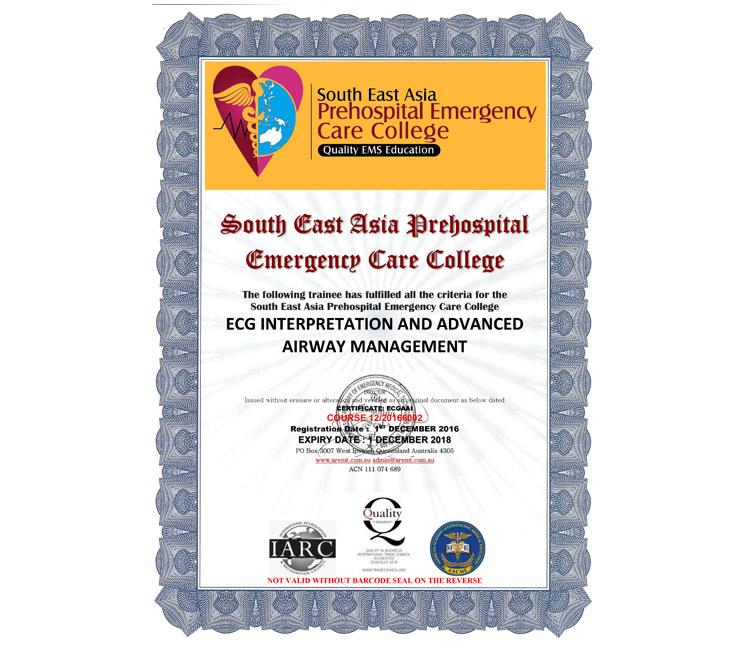 Certificazione Asia