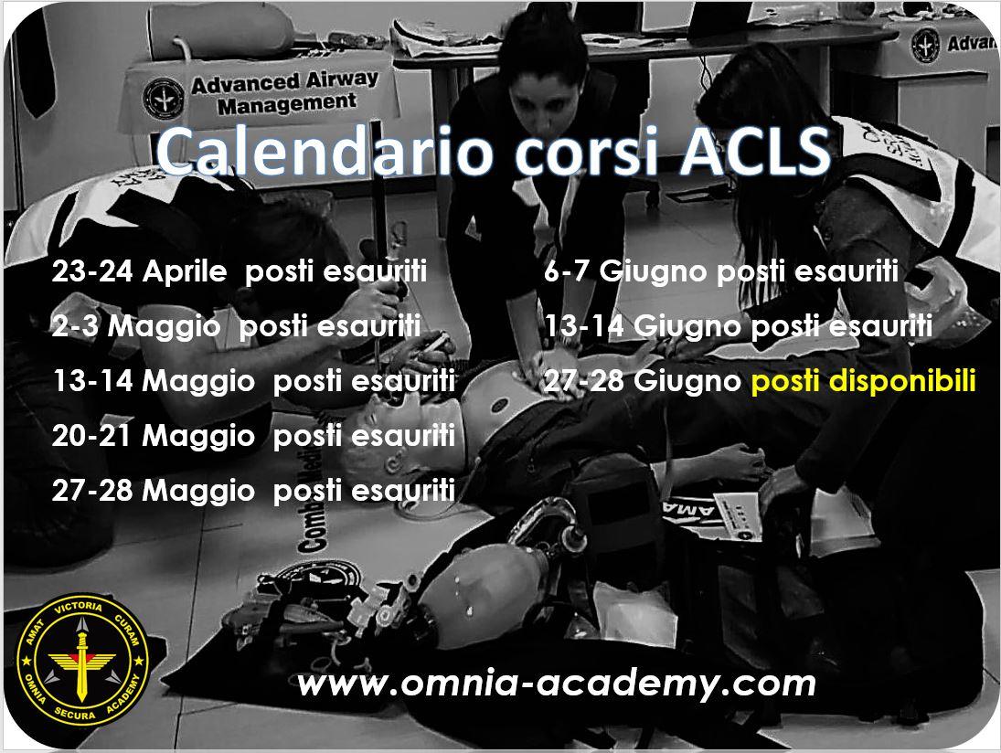Calendario Corsi ACLS