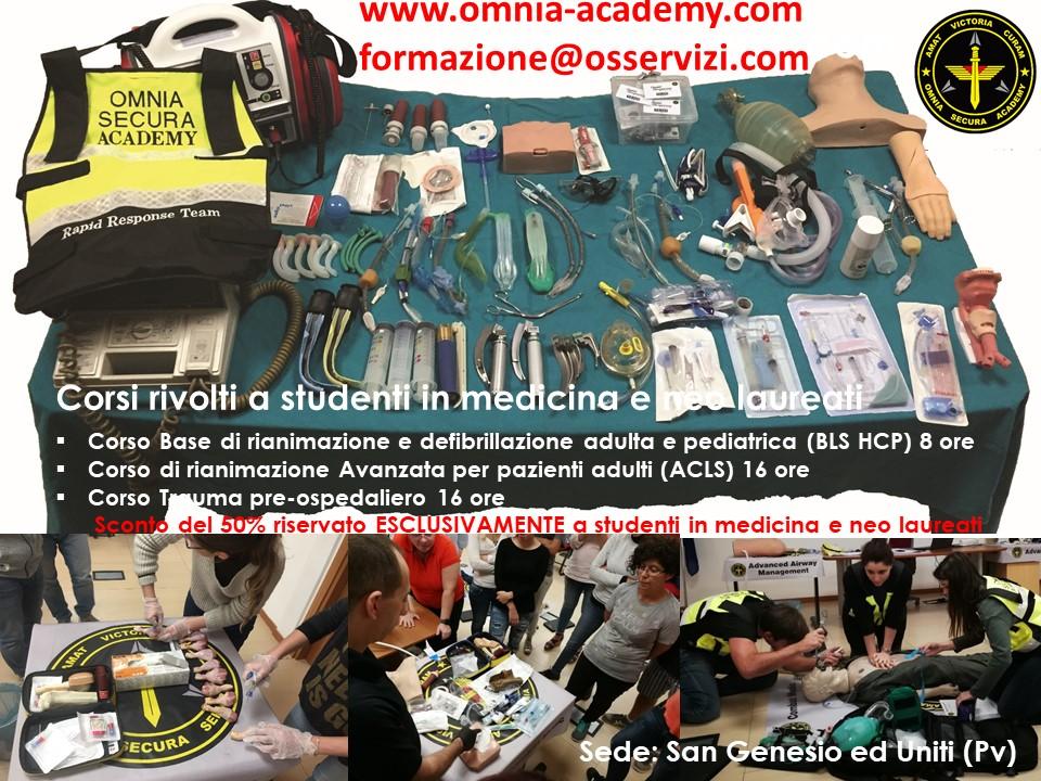 locandina Sconto Corsi studenti in medicina