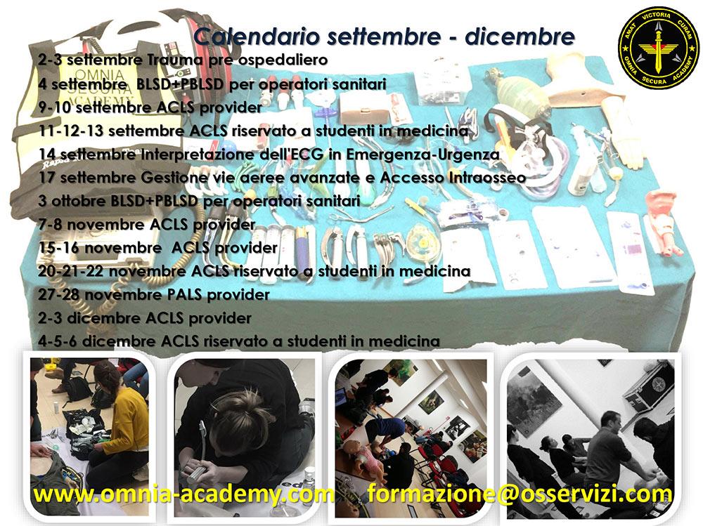 Calendario corsi Omniacademy