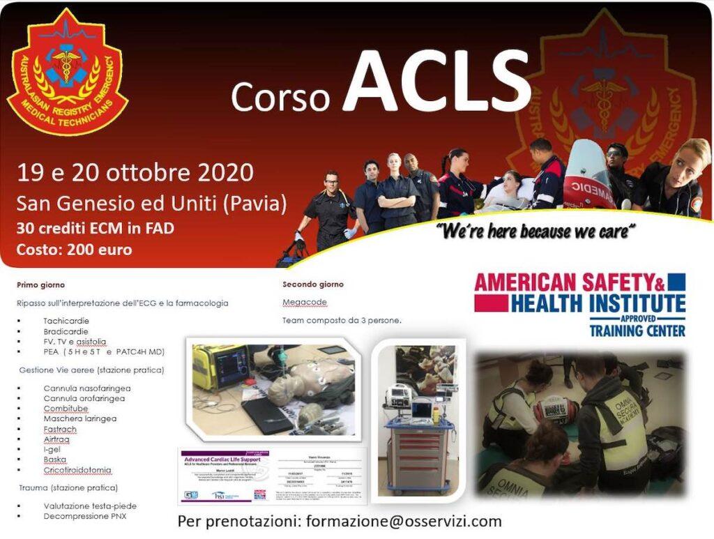 Corso ACLS 2020 30 crediti ECM